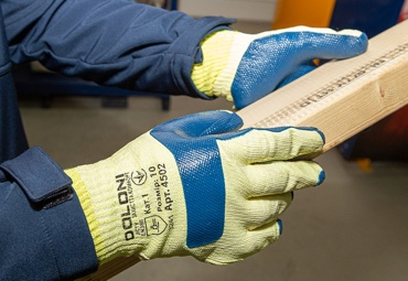 Gloves with latex coating