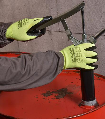 Рукавички D-OIL трикотажні з нітриловим покриттям - 4