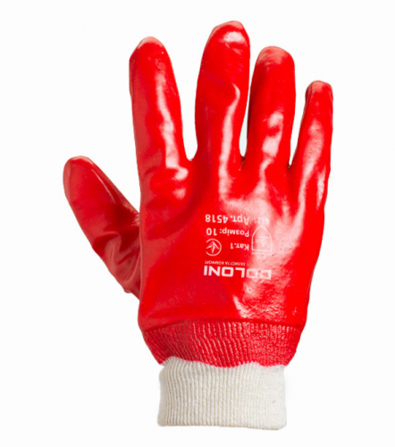 D-RESIST knitted gloves with PVC coating - 1