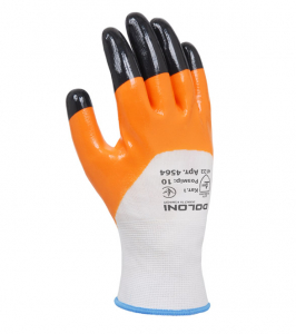D-OIL knitted gloves with nitrile coating