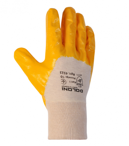 D-OIL knitted gloves with nitrile coating - 1