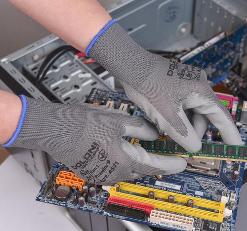 Рукавички D-FLEX трикотажні з поліуретановим покриттям - 4